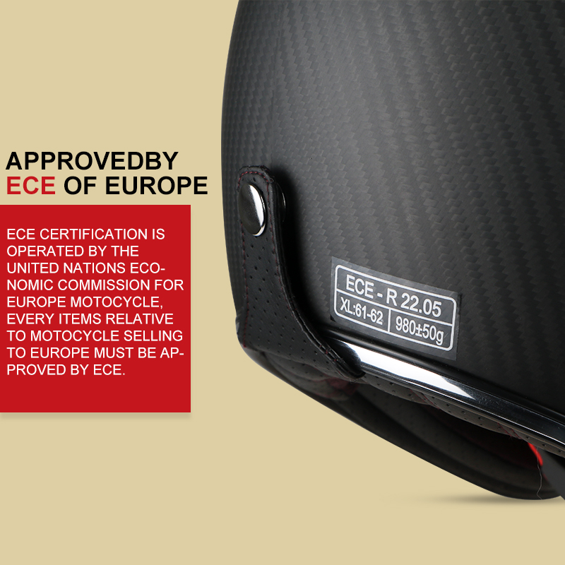TORC koolstofvezel motorhelm vintage open helm vespa motorbike - Motoraccessoires en onderdelen - Foto 5