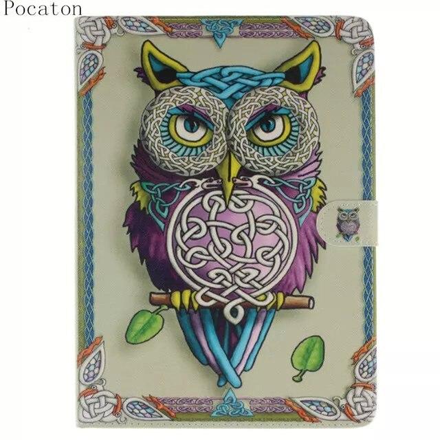 Pocaton for apple ipad air 2 case cute cartoon owls sex girl pocaton for apple ipad air 2 case cute cartoon owls sex girl tablet stand case folded voltagebd Images