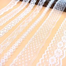 10yards lace fabric white cotton ribbon trim for sewing DIY Africa embroidery trimming clothes home decoration