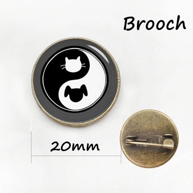 Chinesischen Taoismus zeichen alte acht diagramme Yin Yang hund pin ...