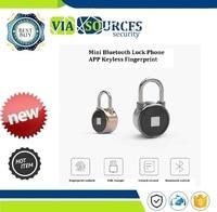 Quick Access Waterproof Resistant Mini Bluetooth Lock Keyless Fingerprint Lock Unlock Anti Theft Padlock Door Lock Phone APP