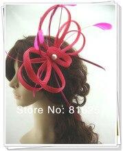 Envío gratis 17 colores avaliable gril sombreros sinamay sombreros del fascinator, buenos sombreros nupciales/mujeres sombrero del coctel, Muy bonito, MSF208