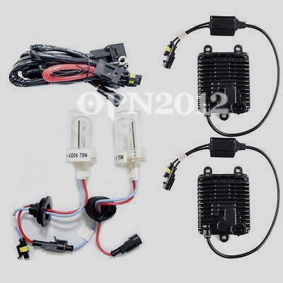 Conversion Fast Bright Super Light Lights Car Headlight Globe Slim HID XENON KIT 12V 75W H1 4300K Replacement Bulbs Single Beam h4 led 5630 33smd super bright white car light source headlight drl fog lights bulb lampada led carro led 12v sp08ce
