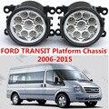 Para FORD TRANSIT Chassis Plataforma 2006-2015 estilo Do Carro amortecedor dianteiro Faróis de neblina LED de alto brilho luzes de nevoeiro 1 conjunto