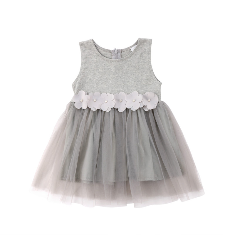 Toddler Kids Princess Birthday Party Wedding Lace Tutu Dress Baby Girl Summer Flower Sleeveless Dresses Clothes Vestidos 1-6Y цена