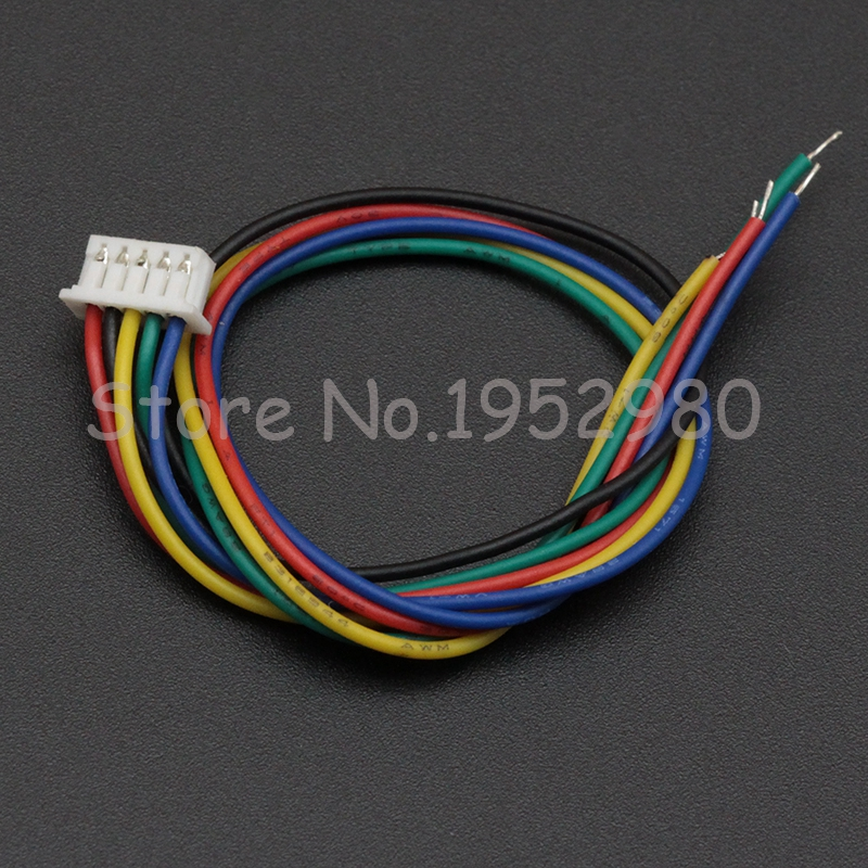 5PCS 1.25mm Pitch Male Connector Wire 15CM Long 28AWG 2/3/4/5/6/7/8/9/10/11/12 Pin JST Single Housing Colorful Cables 20pcs lot 26awg jst xh2 54 2 3 4 5 6 7 8 9 10 pin pitch 2 54mm connector plug wire cable 30cm length