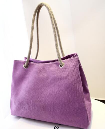 Livraison gratuite 2019 Tanya tui Nouvelles femmes Super-grande capacité sac à bandoulière simple en coton de lin respirant sac à main