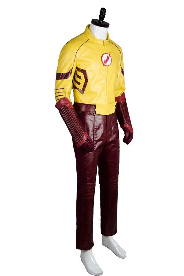 Jeune Justice saison 2 enfant Flash tenue Original 100% Cosplay Costume pour Halloween Costume de fête ceinture gants masque pantalon ensembles supérieurs - 2