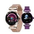 Женские Смарт-часы H1  модные женские часы с монитором сердечного ритма  фитнес-трекер  женские Смарт-часы с Bluetooth  водонепроницаемый смарт-бр...