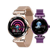 H1 Della Signora Smart Vigilanza Delle Donne di Modo Della Vigilanza del Monitor di Frequenza Cardiaca Fitness Tracker Donne Smartwatch Bluetooth Intelligente Impermeabile Braccialetto.