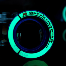 Luminous Car Ignition Keyhole Ring Auto Accessories Cover for Ford Focus 2 3 4 Kuga Car Stickers and Decals Car-styling