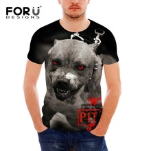 American Pit Bull Terrier T Shirt Men Fashion Cool 3D Streetwear Mens Tshirt Tiger Tee tops pp fitness Male brand clothing homme