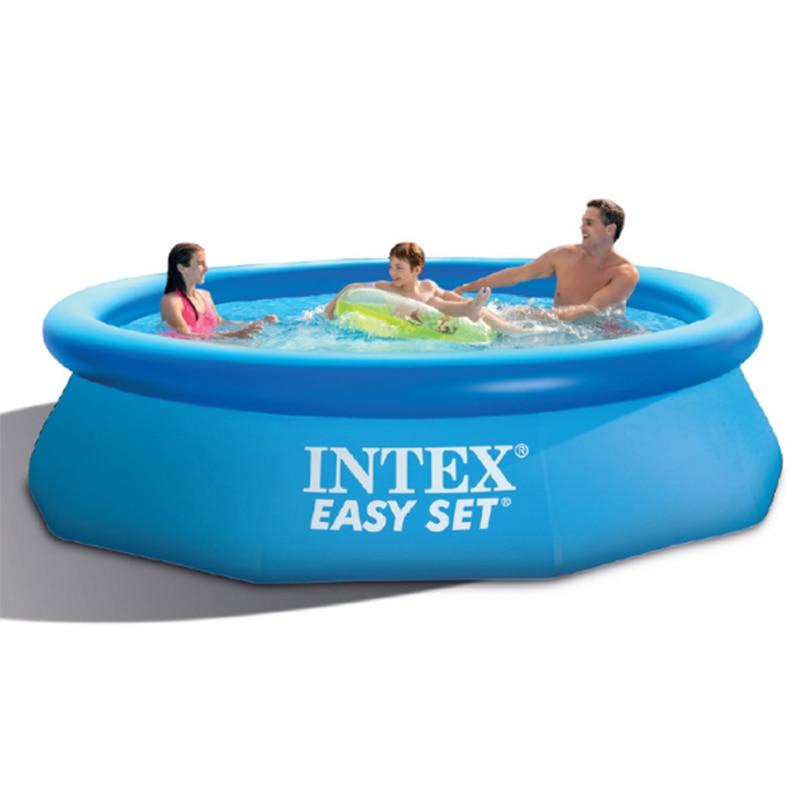 366*76 см, Гигантский Размер, голубой надувной бассейн, семейный бассейн для взрослых детей, утолщенный летний водный бассейн B33004