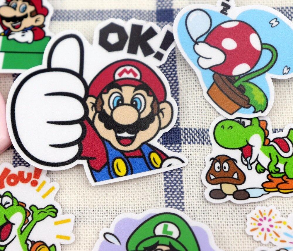 24pcs Creative Cute Self-made Cute Mario Sticker Scrapbooking Stickers /decorative Sticker /DIY Craft Photo Albums/trunk Sticker