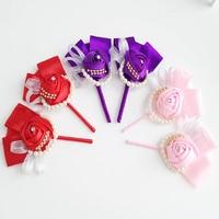 3 kolory Najnowszy slik rose Groom stanik stanik Towarzyszem dla dekoracji ślubnych