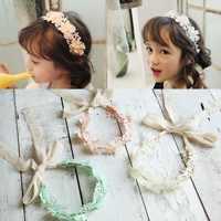 Bonito Acessórios Para o Cabelo Arco Laço headband Da Flor do bebê da menina do algodão do bebê Hairband Da Menina Recém-nascidos Acessórios Faixa Elástica Cabelo bebe