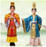 Children's Cosplay Costume boy emperor robes Han Tang Dynasty King Prince Costume Mens Halloween Clothing For Party Maquerade