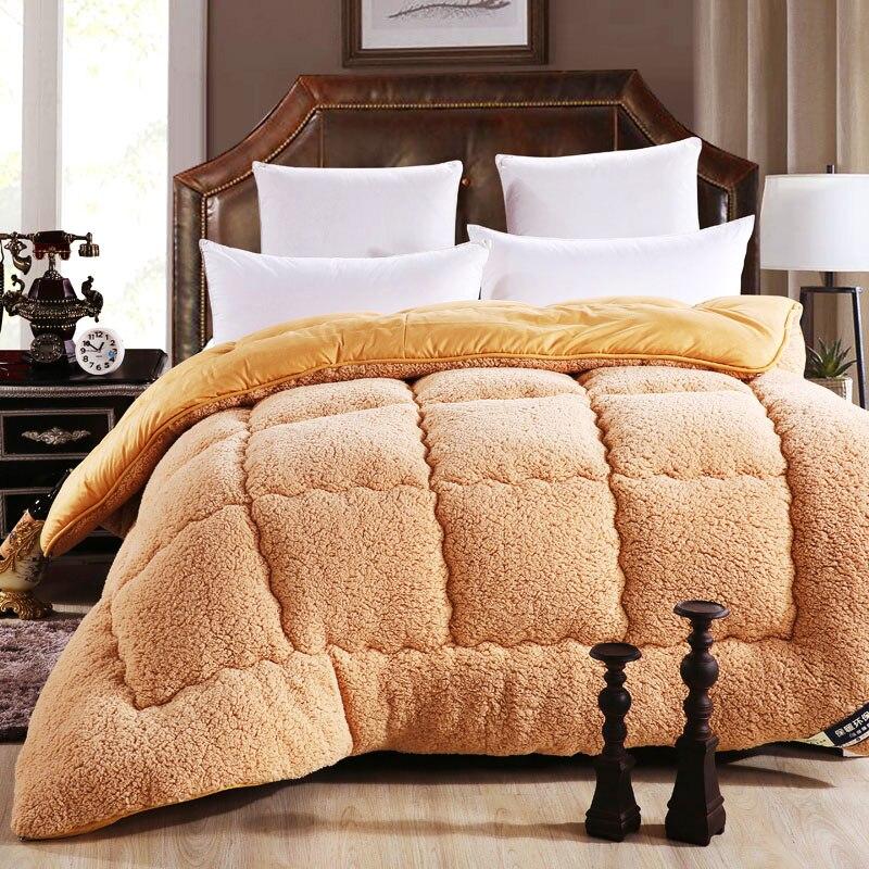3kg australian lamb comforters winter thick warm comforter double brown white autumn soft. Black Bedroom Furniture Sets. Home Design Ideas
