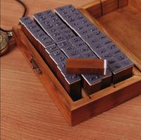 2Set 140pcs Lot 2 Kind Font Retro Wooden Stamp Uppercase Lowercase Letters Number For DIY Decoration