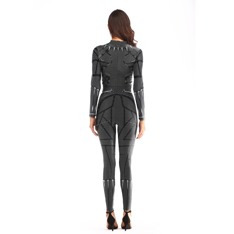 Women 39 s Yoga Sets 3D Super Hero Costume Cosplay Women Avengers Black Panther Jumpsuit Costumes for Girl Bodysuit Plus Size Black