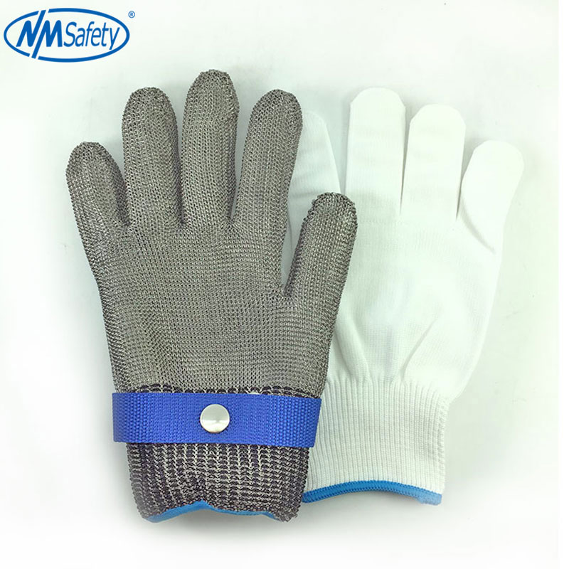 NMSafety Hig Quality Safety Cut Proof Protect Glove 100% Stainless Steel Metal Mesh Butcher Gloves