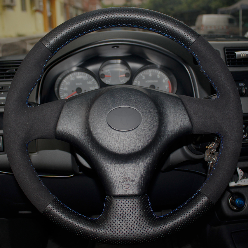 Black Leather Suede Car Steering Wheel Cover For Toyota Rav4 2003 2005 Celica Lexus Is200 300 1999 In Covers From Automobiles