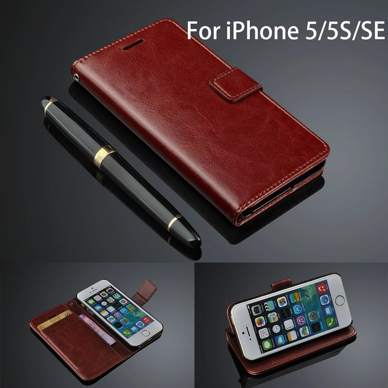 iphone 5 wallet case for men luxury leather for iphone 5s cover flip ultra 19309