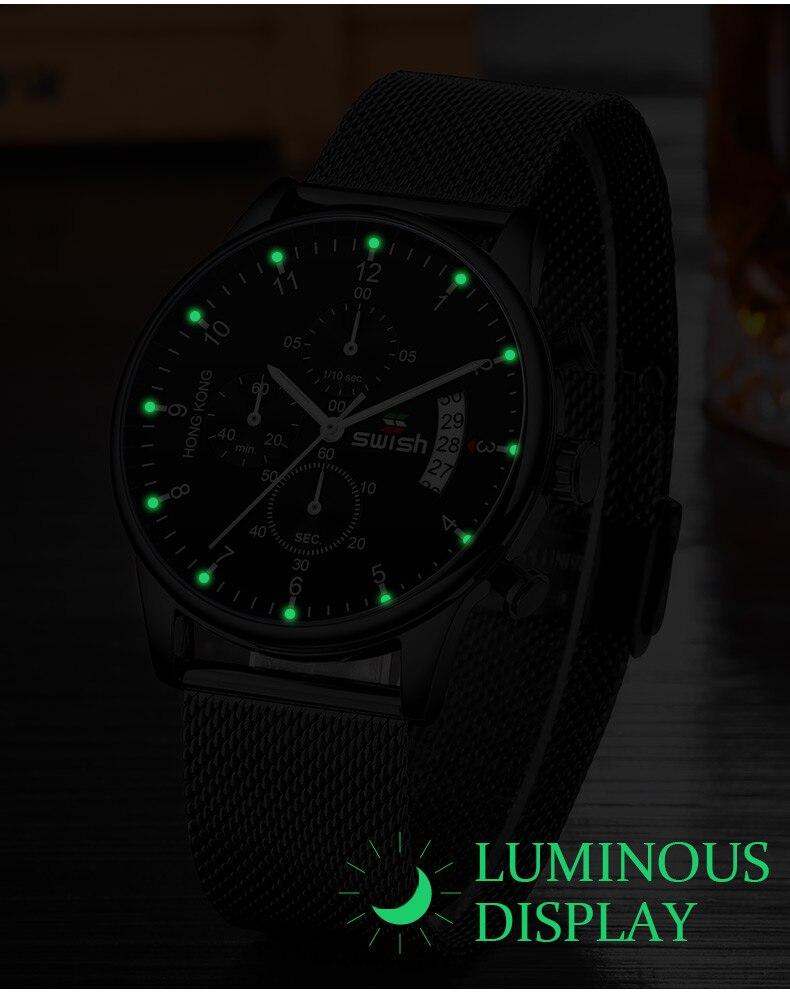 HTB1rDTWX1L2gK0jSZFmq6A7iXXaP SWISH 2019 Top Brand Luxury Mens Watches Waterproof Stainless Steel Wristwatch Mens Chronograph Casual Quartz Watch