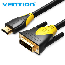 Vention Male to Male HDMI To DVI Cable 1m 1.5m 2m 3m 5m DVI 18+1 to HDMI Adapter Converter Cable 1080P For LCD HDTV Projector