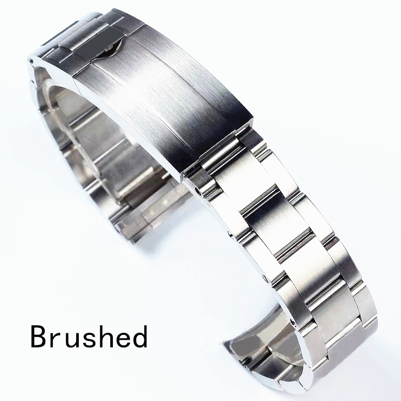 Image 3 - Brands 20mm Brushed Polish Silver Stainless steel Watch Bands Strap For RX Daytona Submarine Role Sub mariner Wristband Bracelet-in Watchbands from Watches