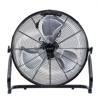 (Ship from EU) 140W 20 inch High Velocity Portable 3 speed Industrial Air Cooling Fan Black