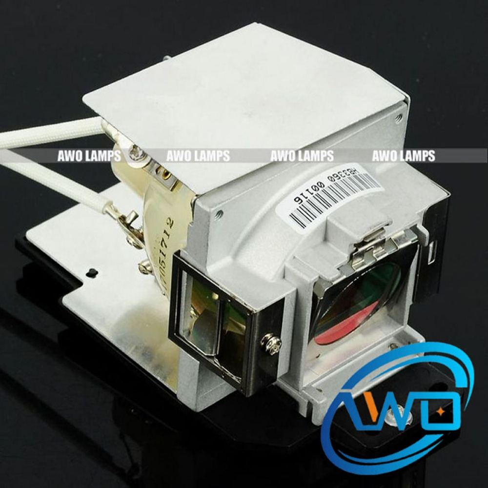 AWO High Quality Projector Lamp 5J.J4N05.001 Replacement Module for BENQ EP5742A/MX717/MX763/MX764/TS413P awo high quality bare projector lamp 5j j6l05 001 replacement for benq ep5920 w1060 w700 w700 w703d
