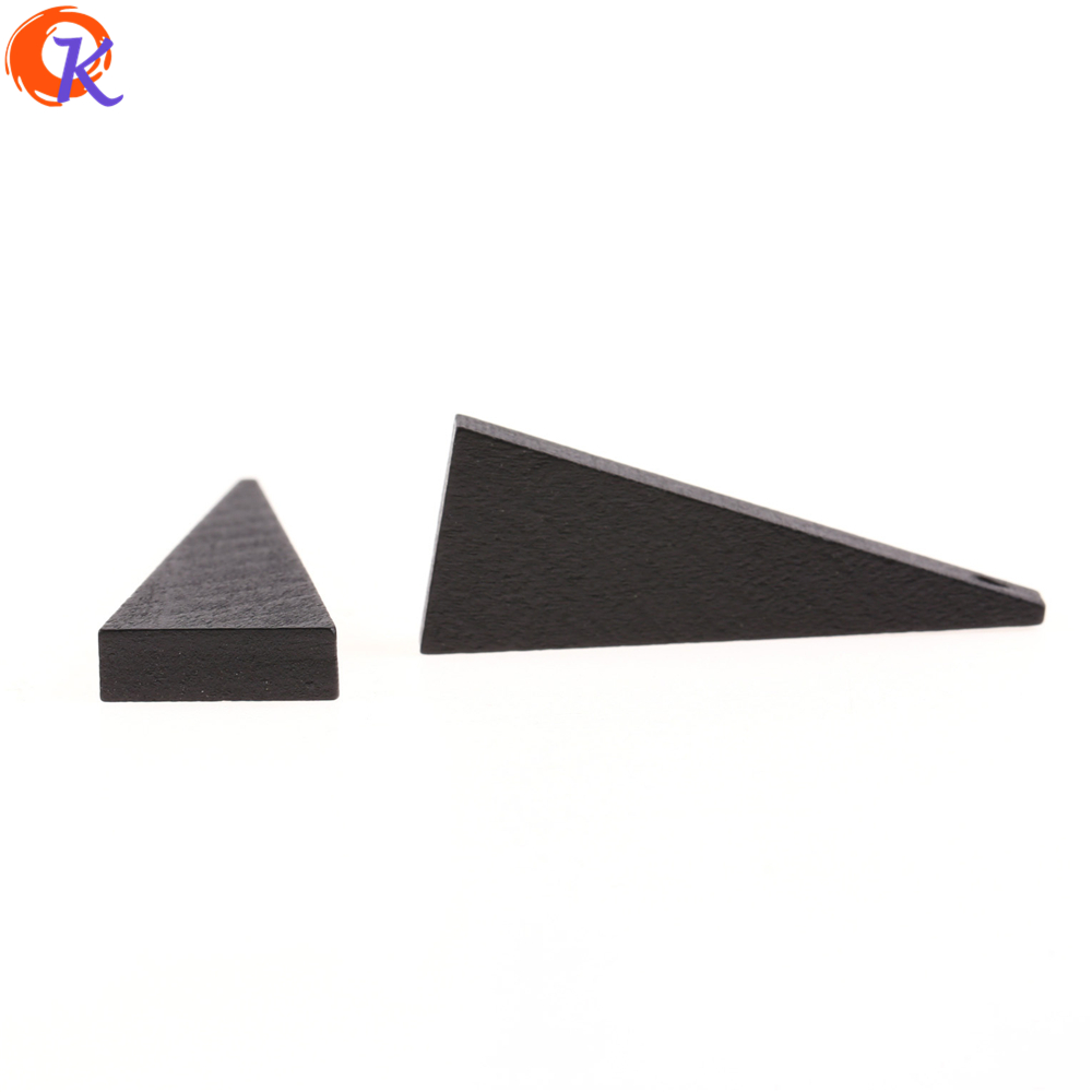 Cordial Design 200Pcs 15 40MM Jewelry Accessories Natural Wood Beads Triangle Shape Beads Making Hand Made Earring Findings in Beads from Jewelry Accessories
