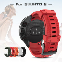 Soft Silicone Watchband for SUUNTO 9 Baro 24mm band Outdoor Sport Watch Strap