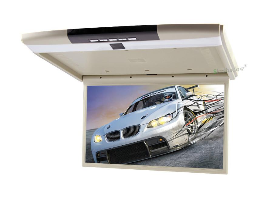 "Cheap Stylish 17.3"" / 15.6"" Color TFT LCD Display 12V~24V Roof Mount Car Monitor Flip Down Car Monitor Player HD 1080P HDMI USB SD FM 7"