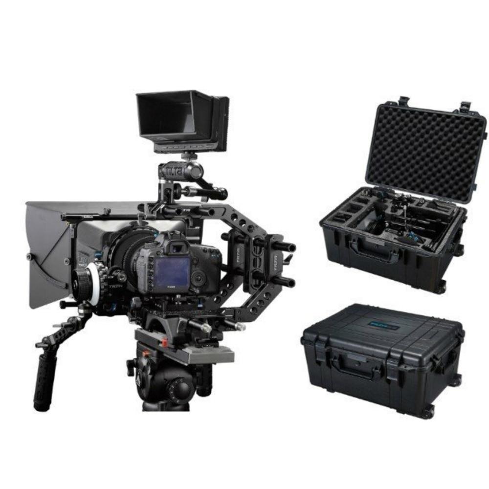 Camera Shoulder Rig DSLR Rig Kit Follow focus Carbon Matte Box & Safety case 15mm rod system dslr rig double hand handgrip shoulder