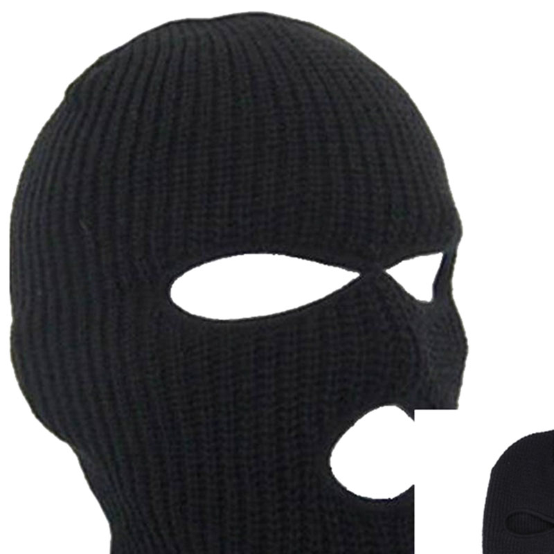 Outdoor Balaclavas Full Face Cover Mask Robber Cool Knitted Beanies for Men Head Neck Balaclava Cycling Bike Caps   IK88