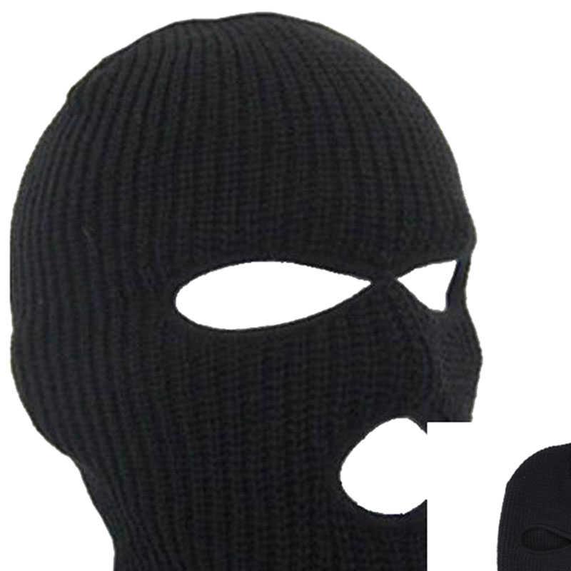 Outdoor Balaclavas Wajah Penuh Masker Perampok Keren Rajutan Beanies untuk Pria Kepala Leher Balaclava Bersepeda Sepeda Topi IK88