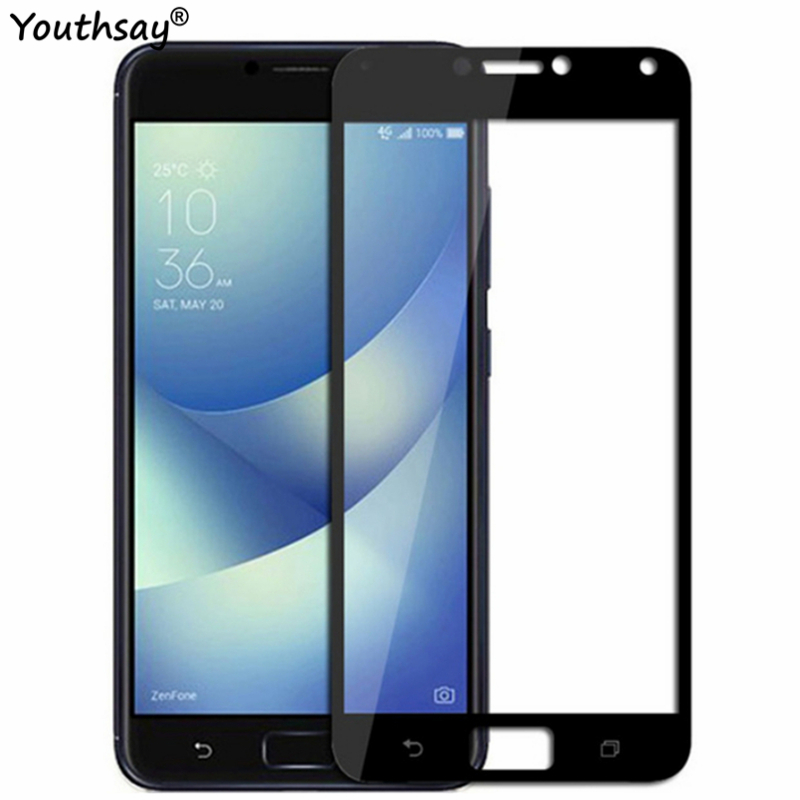 Screen Protector For ASUS Zenfone 4 Max ZC554KL Tempered Glass Full Coverage Protective Film For Asus ZC554KL Glass 5.5
