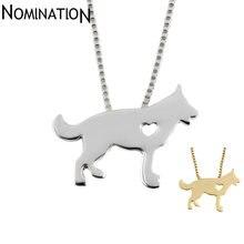 Ожерелье с подвеской в виде собаки немецкой овчарки ювелирные