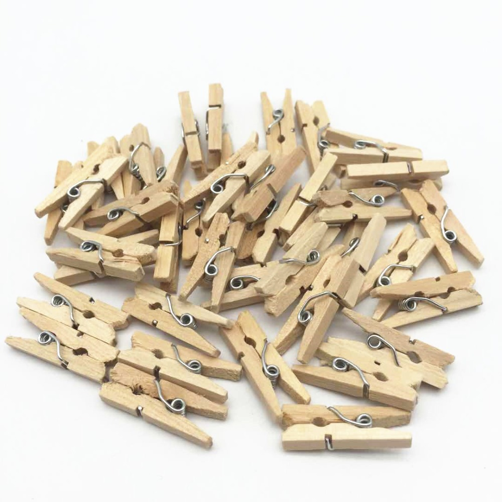 8b0b53764 ٩(^‿^)۶100 قطع 1 مشابك الغسيل الخشبية الطبيعية البسيطة الملابس ...