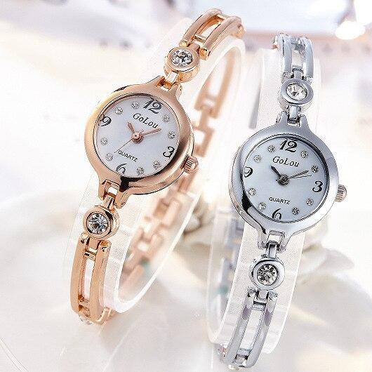 JW Brand Women Watch Fashion Bracelet Rose Silver Dress Crystal Luxury Quartz Wristwatch Ladies Vintage Clock Watches Women Gift in Women 39 s Watches from Watches