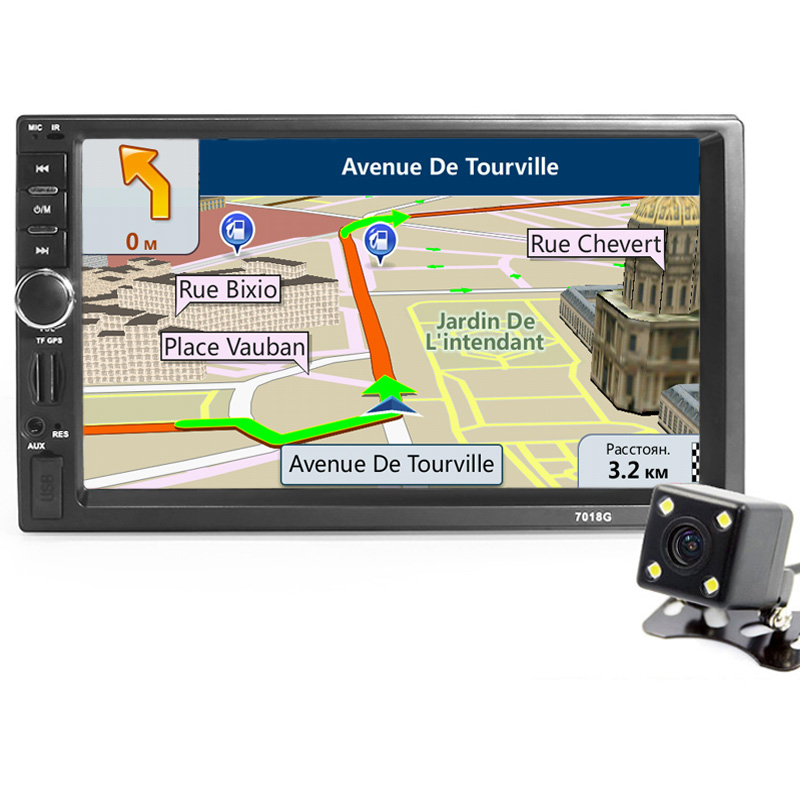 2din car radio player gps navigation camera map autoradio. Black Bedroom Furniture Sets. Home Design Ideas