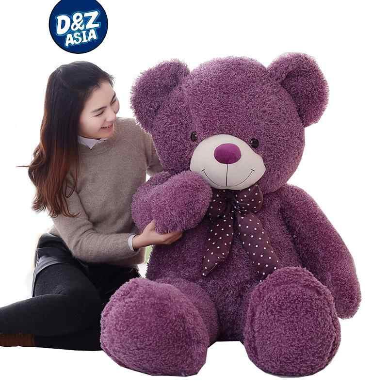Doce cor Grande urso de pelúcia brinquedo boneca peluches ursinhos carinhosos vida tamanho ursinho de presente de aniversário das Crianças