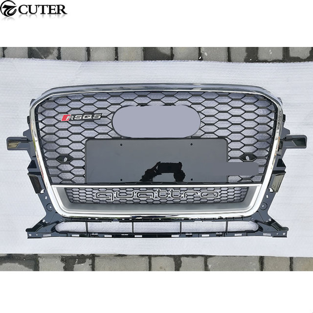 Q5 Rsq5 Racing Grills Chrome Frame Quattro Style Abs Car Front Grill