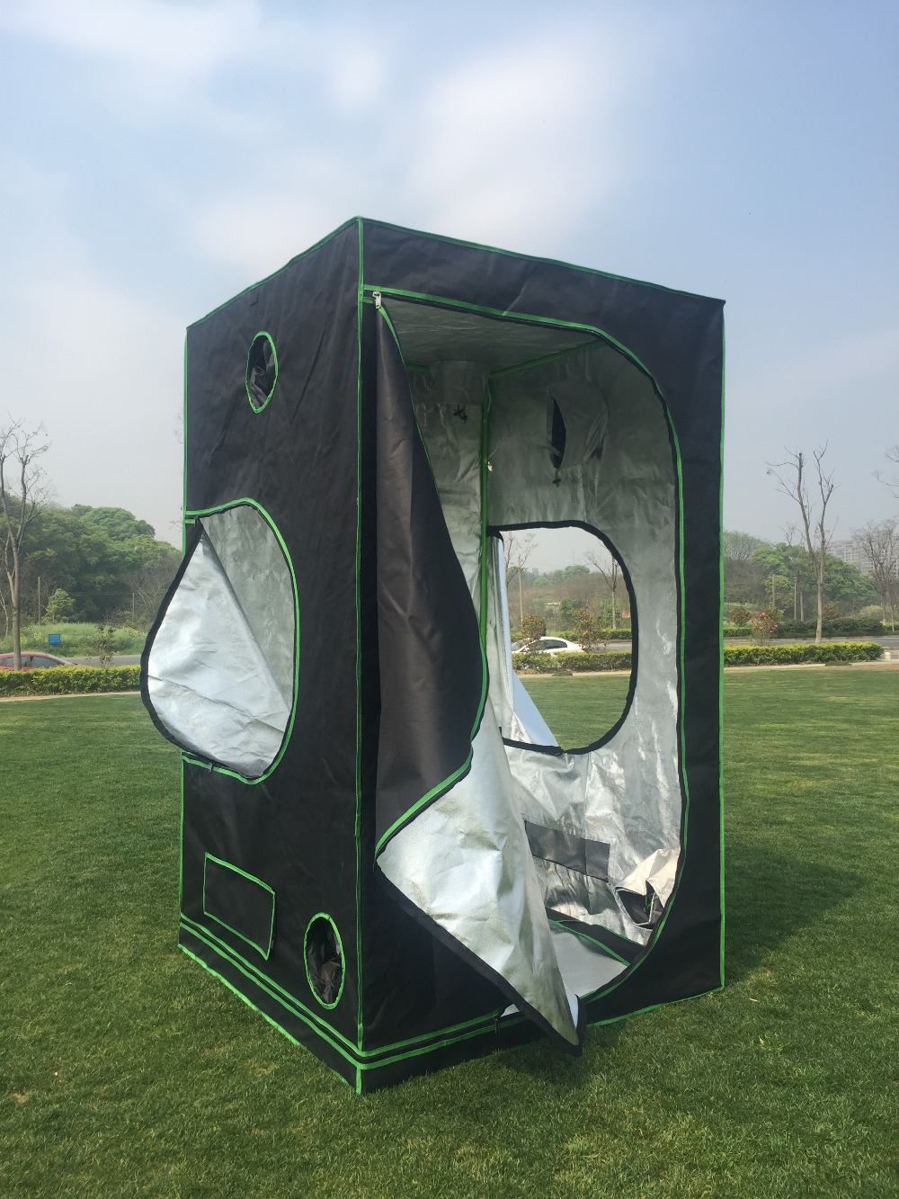 Maison et jardin système hydroponique intérieur pousser tente 48x48x78 pouces (120x120X200 cm) serre Mylay cultiver tente cultiver maison boîte