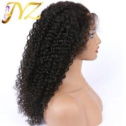 Кудрявые, кудрявые, полные, кружевные человеческие волосы, парики плотностью 130, без клея, бразильские волосы Реми, полная кружевная кожа для...