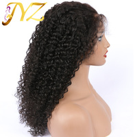 Kinky Curly Full Lace Human Hair Wigs 130 Density Glueless Brazilian Remy Hair Full Lace Wigs With Baby Hair For Black Women