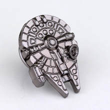 Dongsheng Moda Movie Star Wars Broche Para As Mulheres Star Wars Millennium Falcon Delicados Broches Emblema Do Pin de Lapela Homens Jóias-40(China)