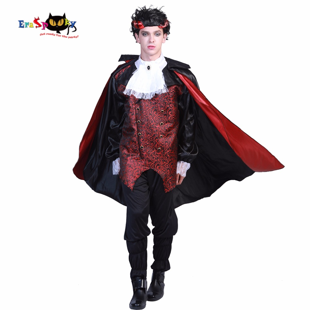 Eraspooky Vampire Halloween Costume Medieval Cosplay Set Adult Costume Men Vampire Versailles Count Costume For Party Anime